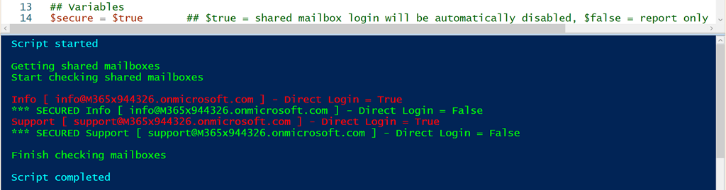 Script to disable direct Shared Mailbox logins – CIAOPS